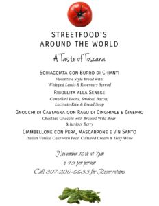 A Taste of Toscana @ Streetfood @ The Stagecoach | Wilson | Wyoming | United States