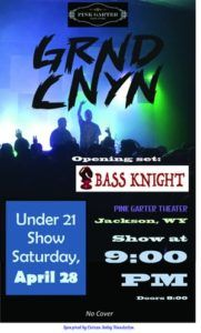 Live Music: Grnd Cnyn (under 21 Only) @ Pink Garter Theatre | Jackson | Wyoming | United States