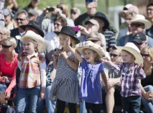 Photo of children enjoying the entertainment at Old West Days.