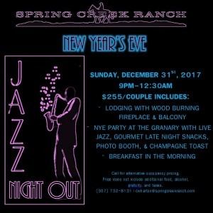 NYE Jazz Night Out @ The Granary at Spring Creek Ranch | Jackson | Wyoming | United States